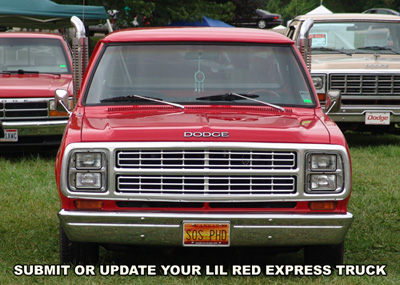 1979 Dodge Lil Red Express Truck, photo from 2012 Mopar Nationals, Columbus Ohio.