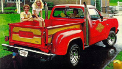 1979 Dodge Li'l Red Express Truck. Photo from 1979 Dodge Division sales flyer.