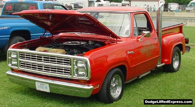 1979 Dodge Lil Red Express Truck, photo from the 2001 Tri-State Chrysler Classic.