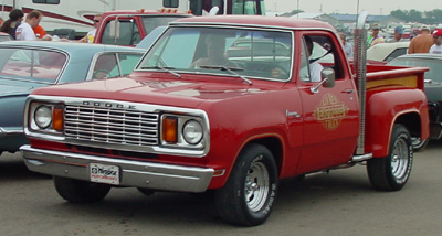 1978 Dodge Lil Red Express Truck, photo from the 2003 Mopar Nationals.
