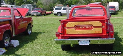 Dodge Lil Red Express Truck, photo from the 2000 Mopar Nationals.