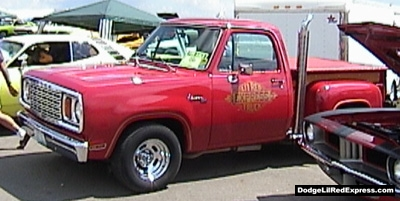 1978 Dodge Lil Red Express Truck, photo from the 2000 Mopar Nationals Columbus, Ohio.