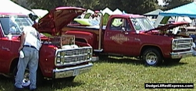 Dodge Lil Red Express Trucks, photo from the 2000 Mopar Nationals.