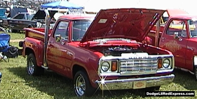 1978 Dodge Lil Red Express Truck, photo from the 2000 Mopar Nationals.
