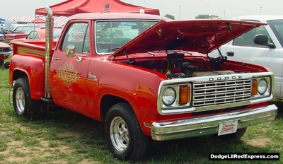 1978 Dodge Lil Red Express Truck, photo from the 2001 Mopar Nationals.