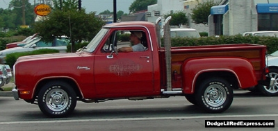 Dodge Lil Red Express Truck. Photo from the 2001 Mopar Nationals, Brice Road - Columbus Ohio.