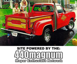 1978 Dodge Lil Red Express Truck, photo from Dodge factory brochure.